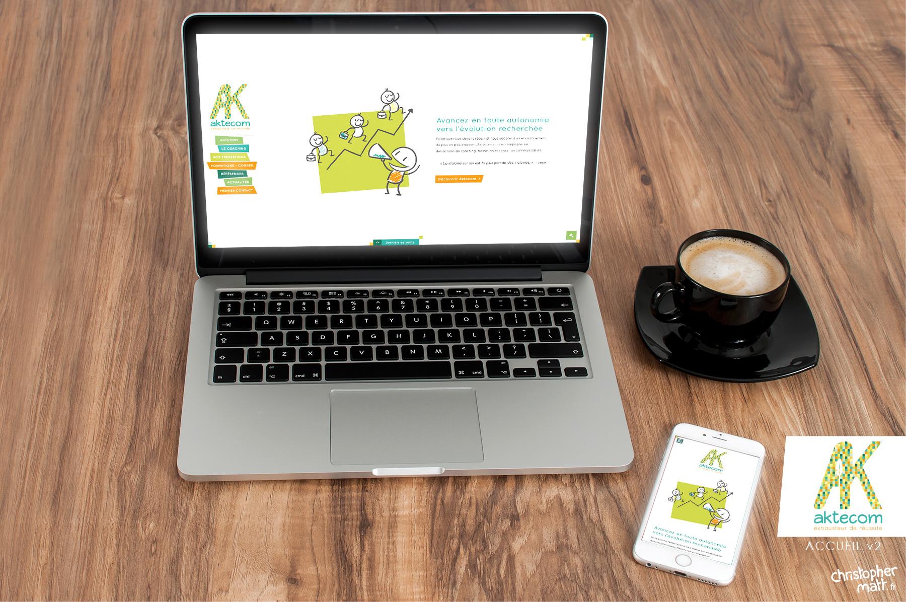 Site et illustrations pour  Aktecom.com