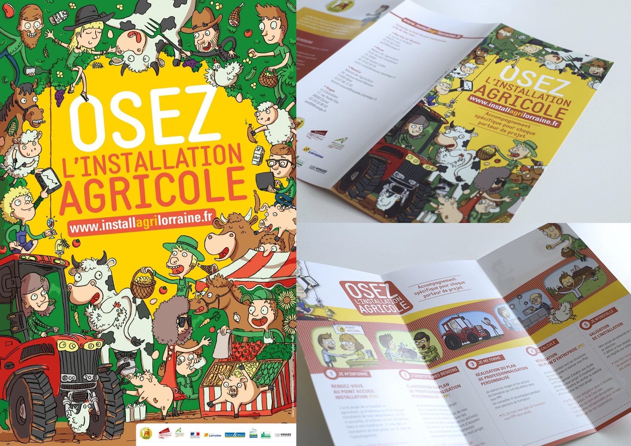 Illustrations pour les Jeunes Agriculteurs de Lorraine