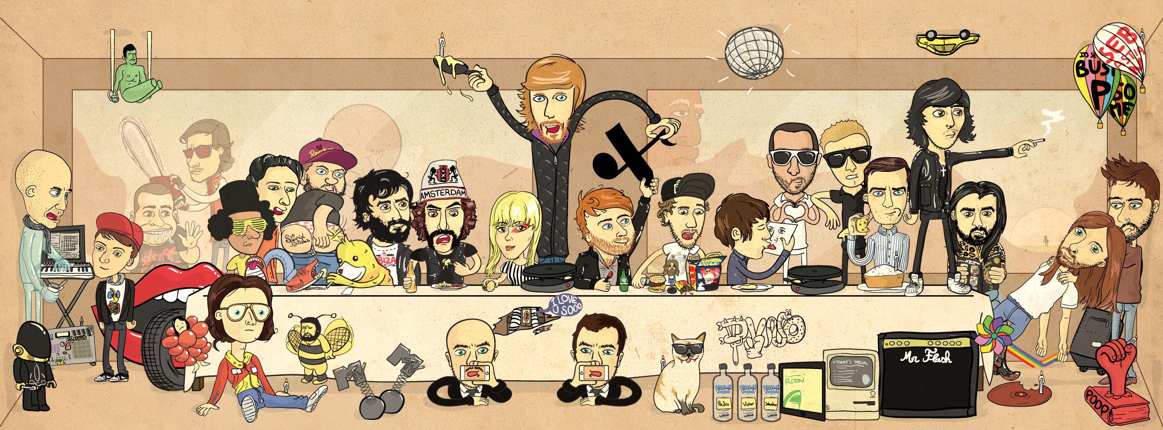Illustration primée pour les 10 ans du label Ed Banger